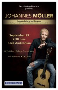 Johannes Möller at Berry College