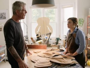 Anthony Bourdain Interviews Guitar Builder